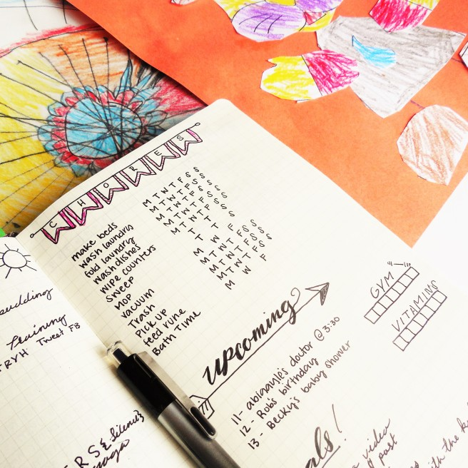 Bullet journaling as a stay at home mom